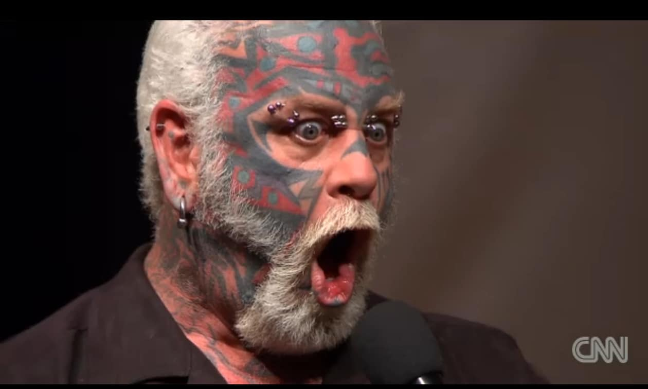 Cnn wants you to be afraid of the scary guy towleroad for Kids with real tattoos