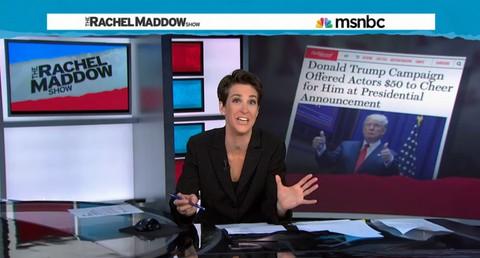 Rachel Maddow on Donald Trumo