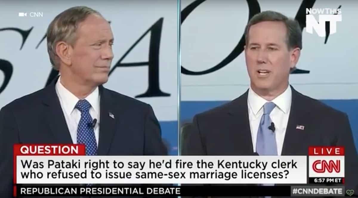 Rick Santorum Compared Kim Davis