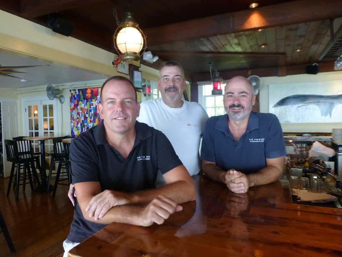 The Red Inn owners Sean Burke, David Silva, and Philip Mossy.