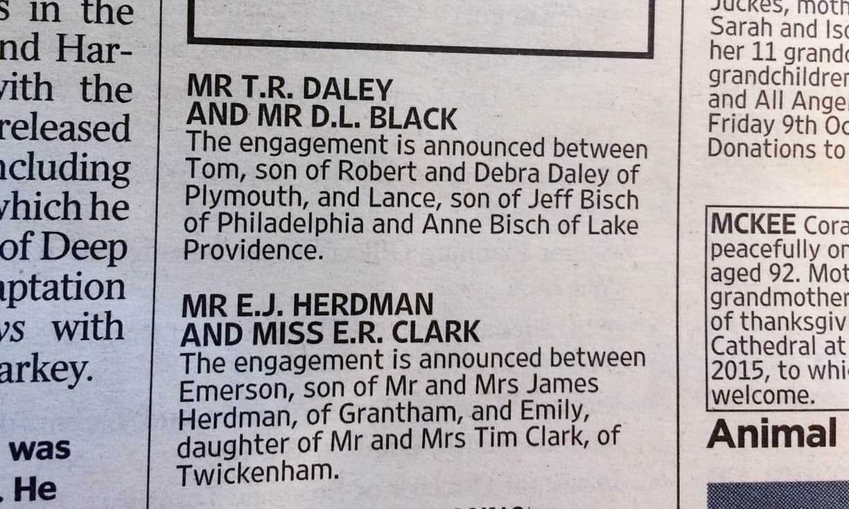 Tom Daley announces engagement
