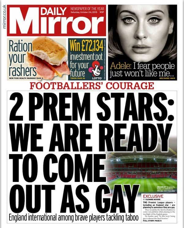 Two Premiere League Footballers gay