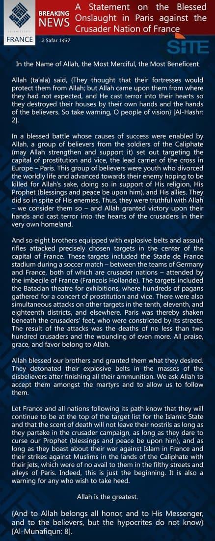 ISIS manifesto