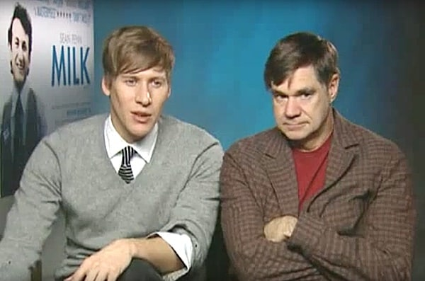 Dustin Lance Black and Gus Van Sant
