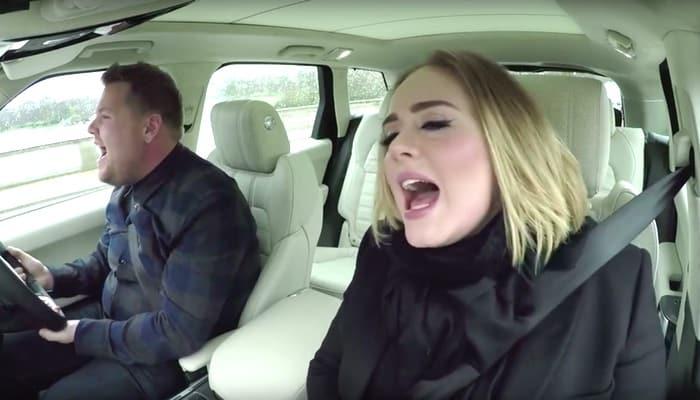 James Corden Adele carpool karaoke