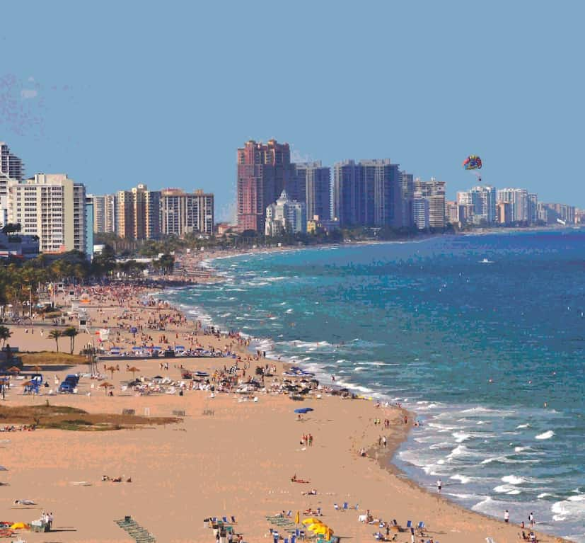 Ft. Lauderdale beach in ManAboutWorld gay travel magazine