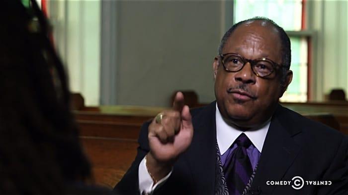 Daily Show Harlem hate church James David Manning