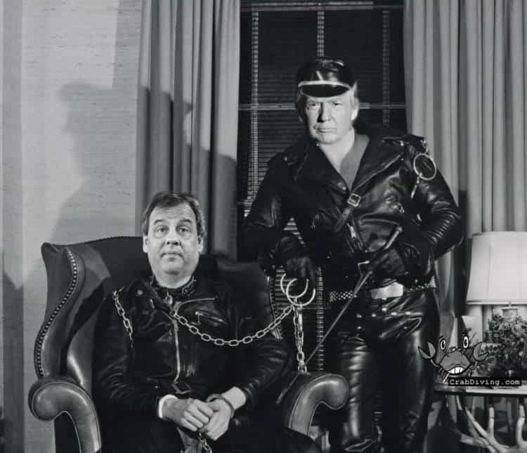 Donald Trump Chris Christie master and slave