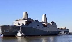 USS Portland Launch