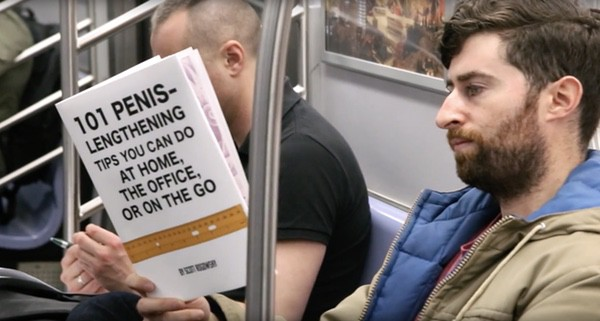This Guy Took Fake Book Covers on the Subway and Raised More Than ...