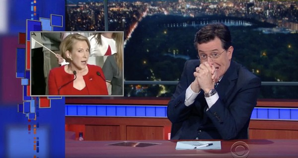 Stephen Colbert Carly Fiorina wicked stepmother