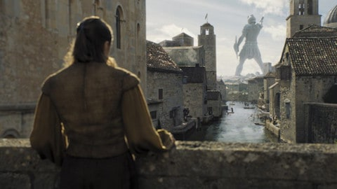 Arya Stark in Braavos on Game of Thrones