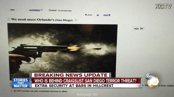 Craigslist threat