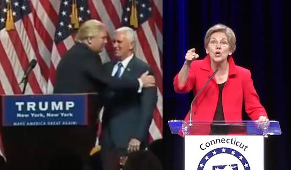 trump Pence Warren