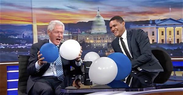Bill Clinton balloon drop