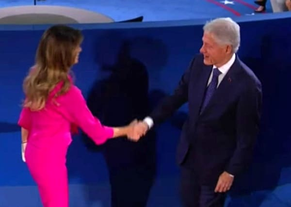 Melania Trump Bill Clinton