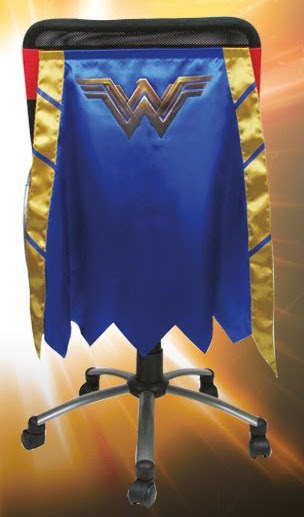 A Wonder Woman chair cape makes a great gay gift.