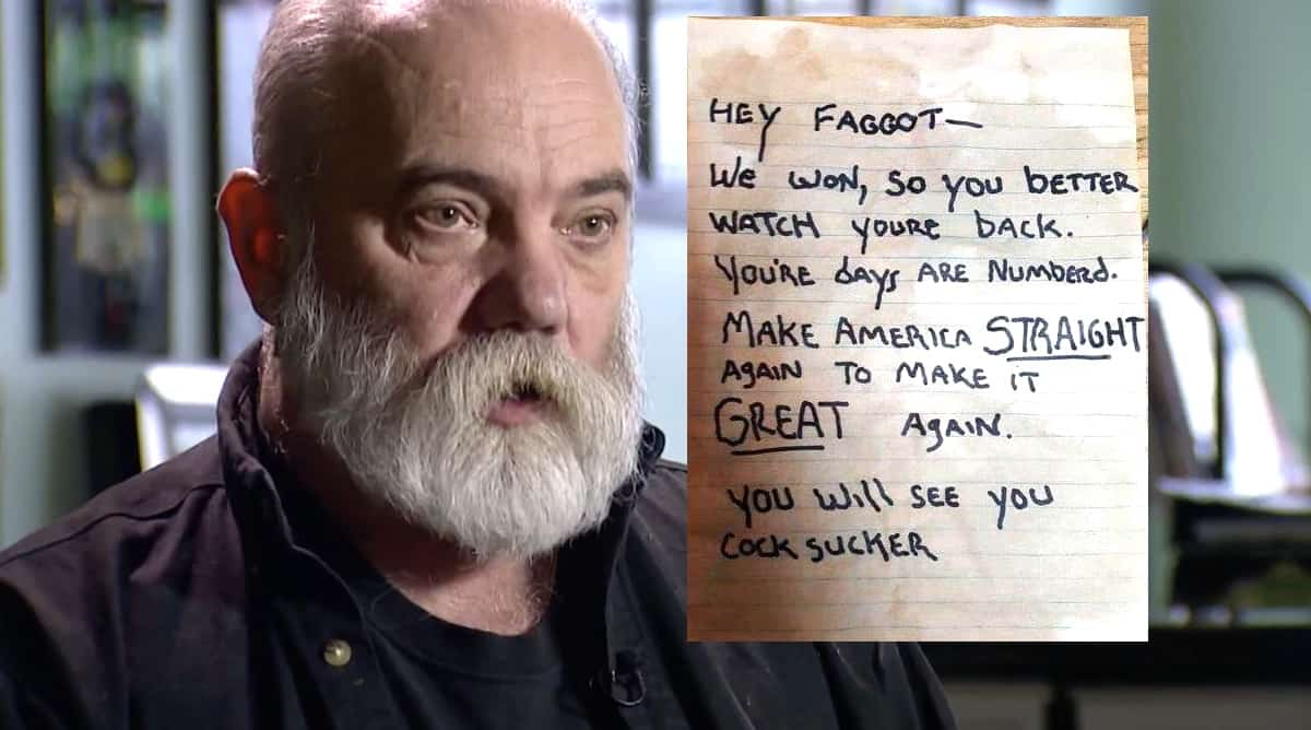 Land Rover Seattle >> Gay Seattle Man Threatened in Hateful Note: 'Hey Faggot ...