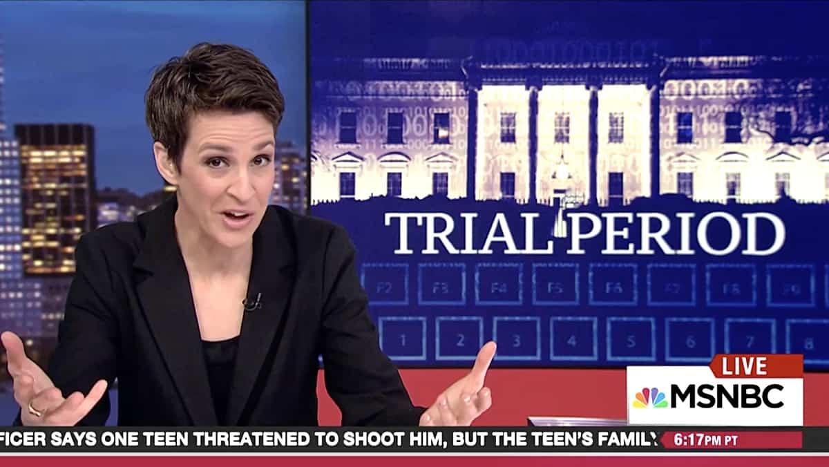 rachel maddow watch concerns leaking trump campaign