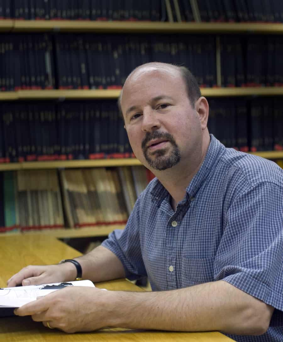 """Penn State researcher Michael Mann says president Trump's policies make it """"more difficult for the whole world to beat back the climate crisis."""" And he says efforts by the new administration to stifle climate research harken back to the days of the Soviet Union under Stalin. Credit: Greg Rico/Penn State University"""