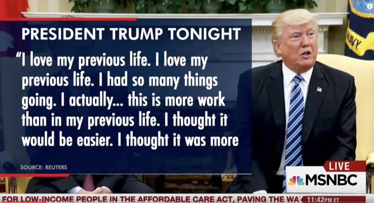 Trump Misses His 'Previous Life', Thought Being President Would Be Easier: LISTEN - Towleroad