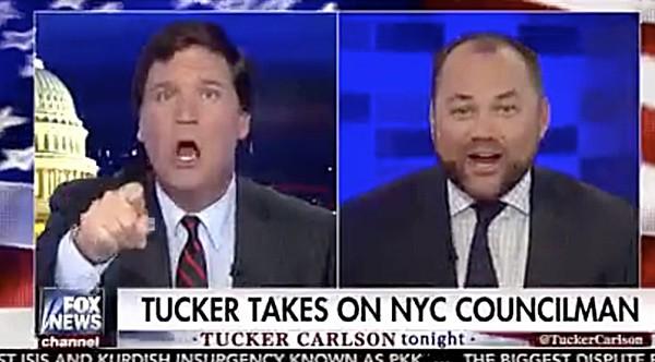 Tucker Carlson Corey Johnson