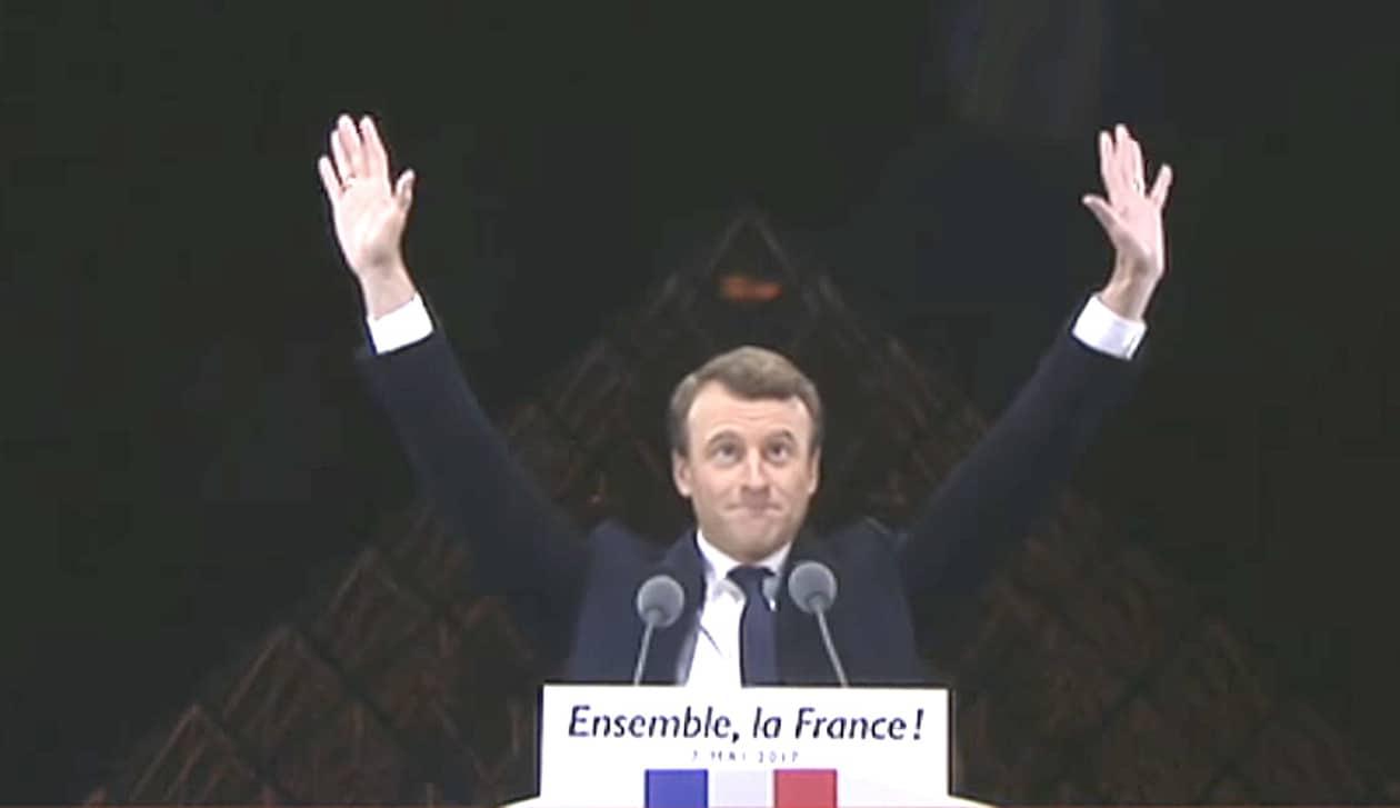 Emmanuel Macron louvre