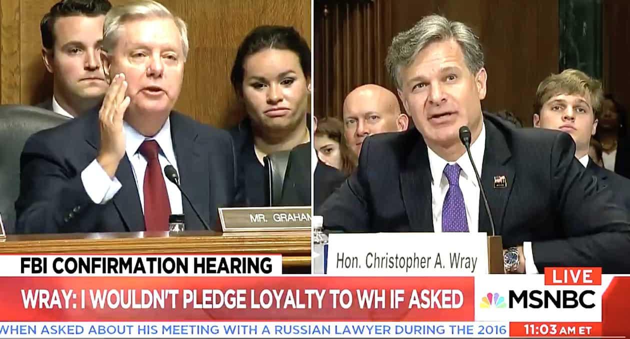 Lindsey Graham Christopher Wray