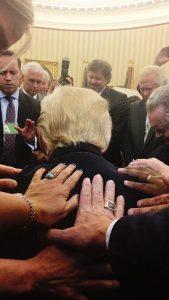 lay hands trump