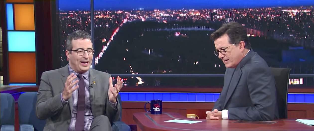 John Oliver Stephen Colbert