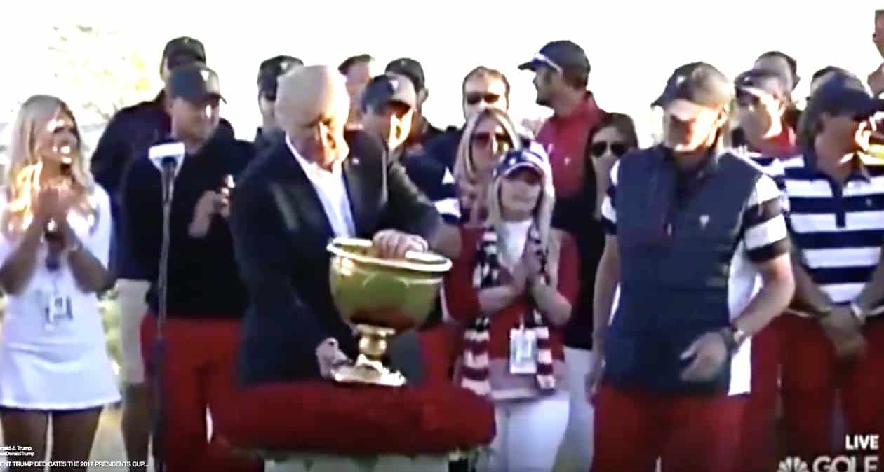 Trump golf trophy