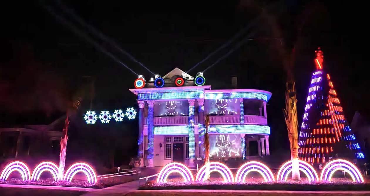 edm star wars christmas display