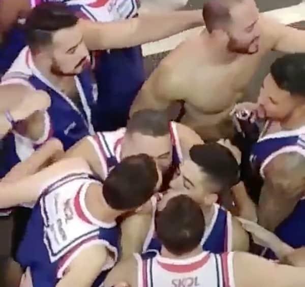 four way brazilian gay kiss