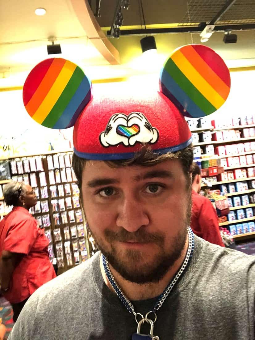 mickey mouse rainbow love