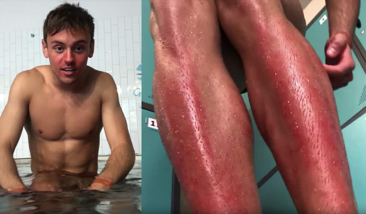 Tom Daley red