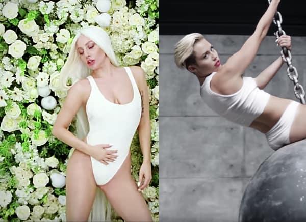 Lady Gaga Miley Cyrus