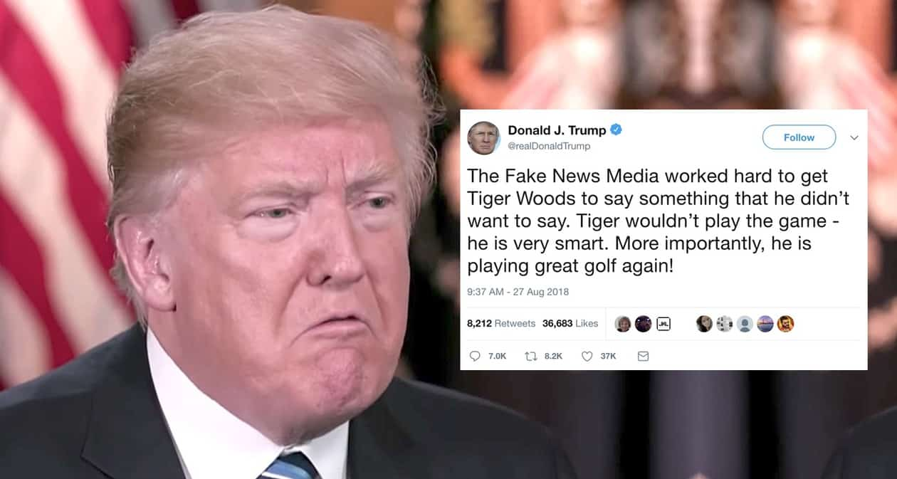 Tiger Woods Trump