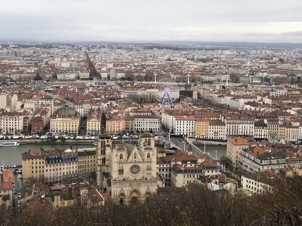 View of Lyon from the Basilica of Notre-Dame