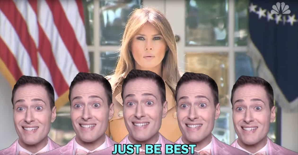 Melania Trump Randy Rainbow Be Best