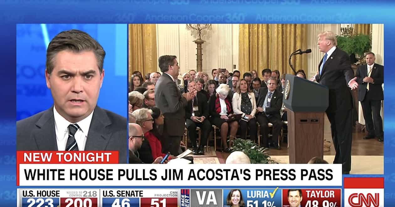 Jim Acosta press pass