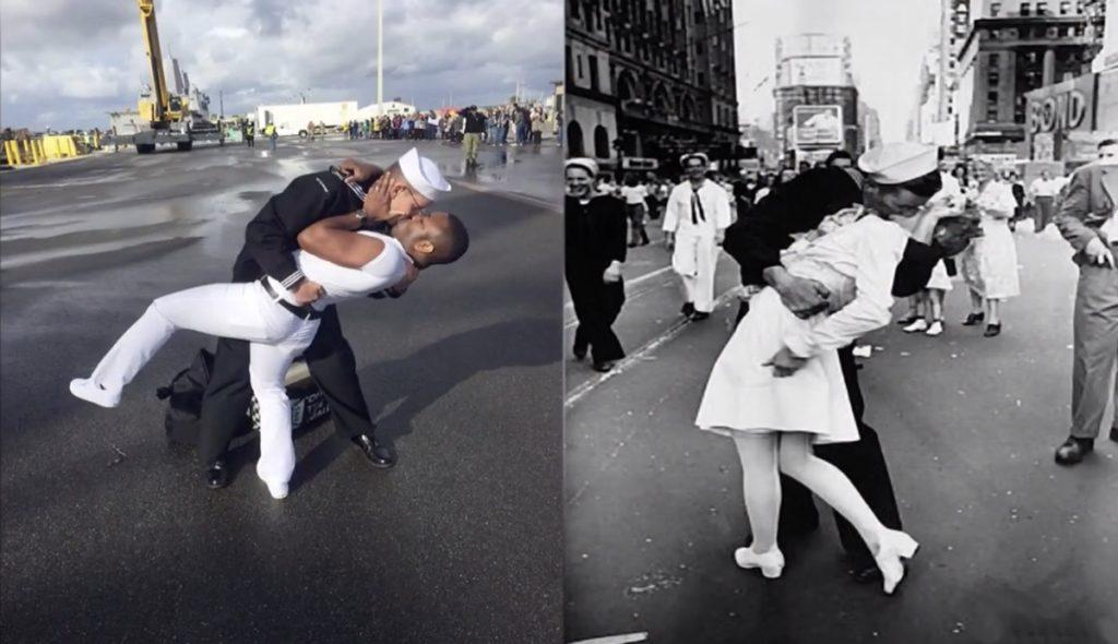 gay sailor kiss
