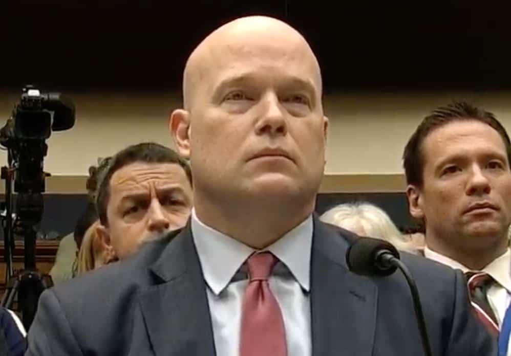 Matthew Whitaker testifies