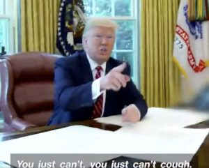 trump coughing