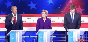 Democratic debate Google trends