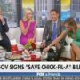 'FOX & Friends' Devour a Breakfast of Hate Chicken to Celebrate Texas's Anti-LGBTQ 'Save Chick-fil-A' Law