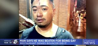 Man Says Restaurant Bouncer Brutally Beat Him After He Kissed His Boyfriend: WATCH