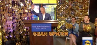 Sean Spicer Reacts After 'DWTS' Host Tom Bergeron Slams the Former White House Liar's 'Politically Divisive' Casting