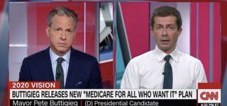 Pete Buttigieg Jabs Elizabeth Warren for Being 'Extremely Evasive' on Health Care: WATCH
