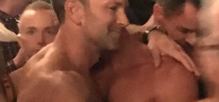 Aaron Schock Photographed in Shirtless Embrace at Queer L.A. Nightclub