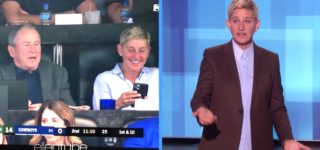 Elton John Defends Ellen's George W. Bush Friendship